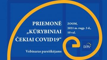 """Priemonė """"Kūrybiniai čekiai COVID-19"""""""
