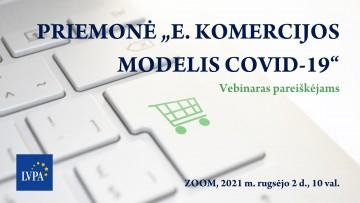 """Priemonė """"E. komercijos modelis COVID-19"""""""