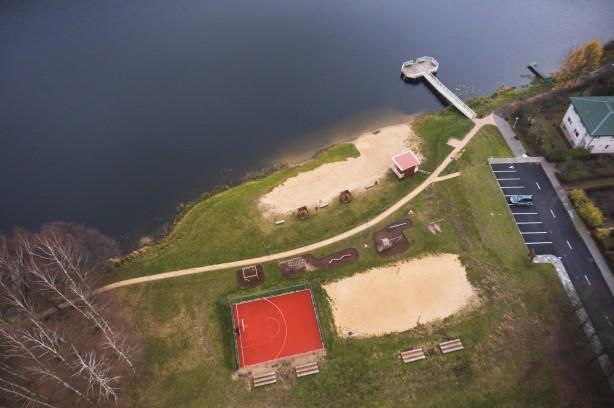 Pastovio ežero pakrantė Molėtuose